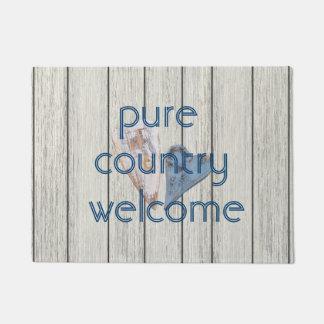 純粋な国の歓迎 ドアマット