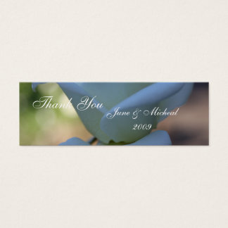 純粋な白いバラ スキニー名刺