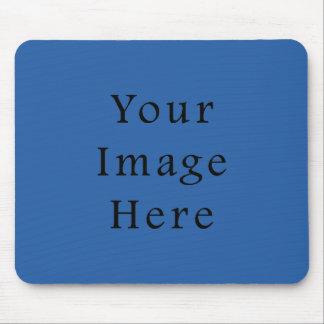 純粋な紺碧色の傾向のブランクのテンプレート マウスパッド