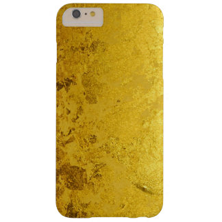 純粋な金ぱくパターン + あなたの文字/写真 BARELY THERE iPhone 6 PLUS ケース