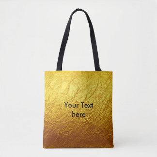 純粋な金ゴールドの紙パターン + あなたの文字/写真 トートバッグ