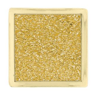 純粋な金ゴールドの(ばちゃばちゃ)跳ねるパターン + あなたの文字/写真 金色 ラペルピン