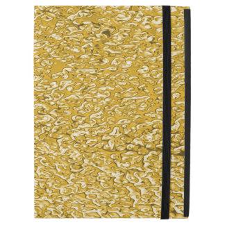 """純粋な金ゴールドの(ばちゃばちゃ)跳ねるパターン + あなたの文字/写真 iPad PRO 12.9"""" ケース"""