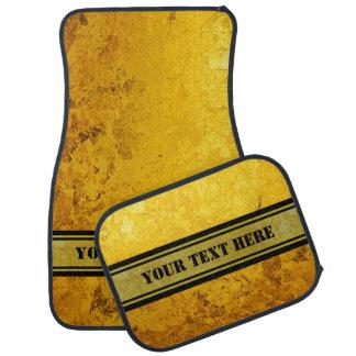 純粋な金ゴールドパターン/金ぱく + あなたの文字 カーマット