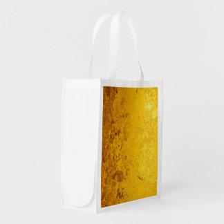 純粋な金ゴールドパターン/金ぱく エコバッグ