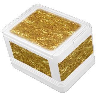 純粋な金ゴールドパターン/金ゴールドホイル IGLOOクーラーボックス