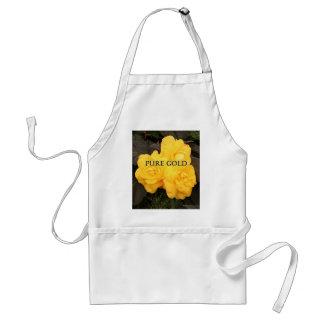 純粋な金ゴールド: 黄色いベゴニアの花 スタンダードエプロン
