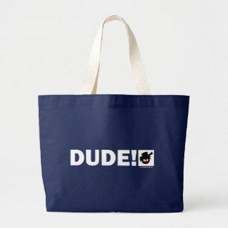 純粋なDUDE-1ペーパー突き棒、バッグ、エプロン、ペット物 ラージトートバッグ