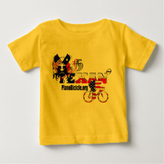 純血種のテキサス州のサイクリングの乳児のTシャツ ベビーTシャツ
