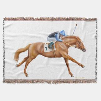 純血種の競走馬の騎手のブランケット スローブランケット