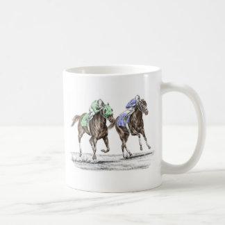 純血種の競馬 コーヒーマグカップ