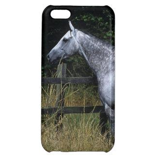 純血種の馬の待機の塀 iPhone5Cケース