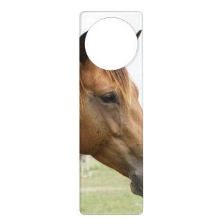 純血種の馬 ドアノブプレート