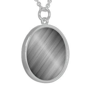 純銀製の円形のネックレス スターリングシルバーネックレス