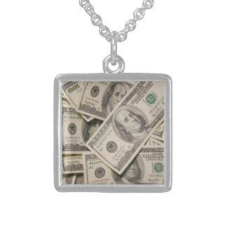 純銀製の繁栄のネックレス スターリングシルバーネックレス