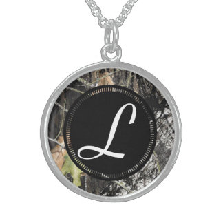 純銀製の迷彩柄のモノグラムのなネックレス スターリングシルバーネックレス