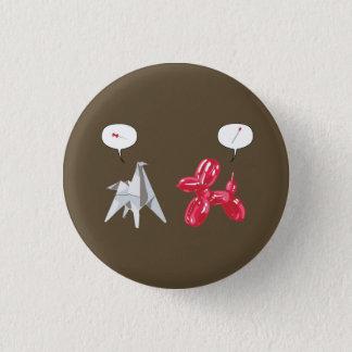 紙およびBaloon犬 3.2cm 丸型バッジ
