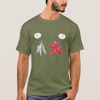 紙およびBaloon犬 Tシャツ