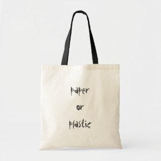 紙かプラスチック トートバッグ