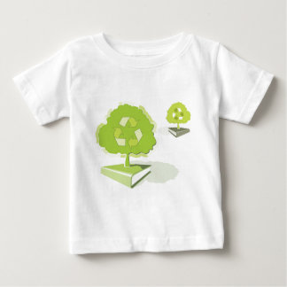 紙のリサイクル! 木を救って下さい! ベビーTシャツ