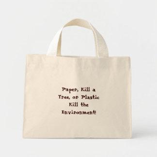 紙は、木、かプラスチック殺害を囲…殺します ミニトートバッグ