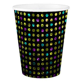 紙コップの水玉模様のSparkleyの宝石 紙コップ