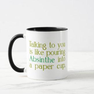紙コップへのアブサンのように マグカップ