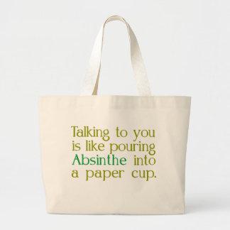 紙コップへのアブサンのように ラージトートバッグ