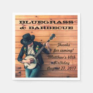 紙ナプキンがBluegrassによっておよびバーベキューはパーティを楽しみます スタンダードカクテルナプキン