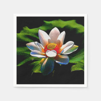 紙ナプキンのはすの花のデザインの贅沢セット スタンダードカクテルナプキン
