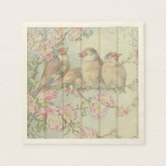 紙ナプキンのパステル調の歌の鳥 スタンダードカクテルナプキン