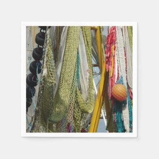 紙ナプキンの抽象芸術のビーチの漁網 スタンダードカクテルナプキン
