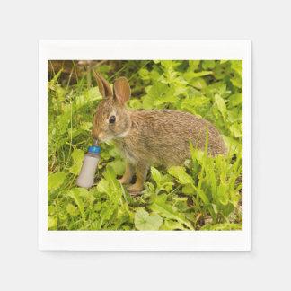 紙ナプキン、赤ん坊のウサギ スタンダードカクテルナプキン