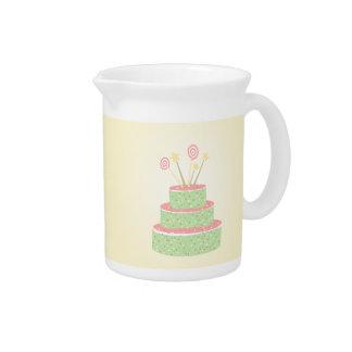 紙吹雪のケーキ • 緑のお誕生日ケーキ ピッチャー