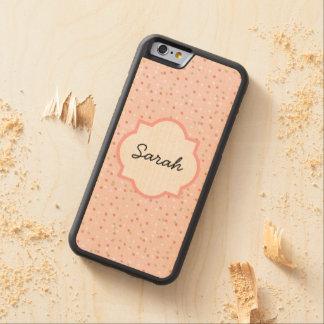 紙吹雪のケーキ • Buttercreamのピンクのつや消し CarvedメープルiPhone 6バンパーケース