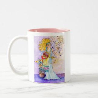 紙吹雪の妖精のマグ ツートーンマグカップ