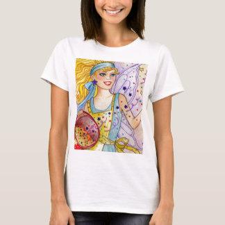 紙吹雪の妖精の女性Tシャツ Tシャツ