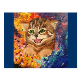 紙吹雪の子猫 ポストカード