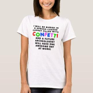 紙吹雪の小箱のおもしろTシャツ Tシャツ