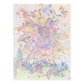 紙吹雪の花 ポストカード