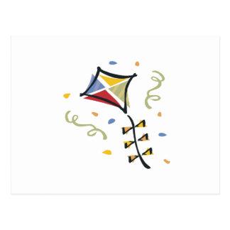 紙吹雪凧 ポストカード