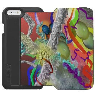 紙吹雪-赤の抽象デザイン INCIPIO WATSON™ iPhone 5 財布型ケース