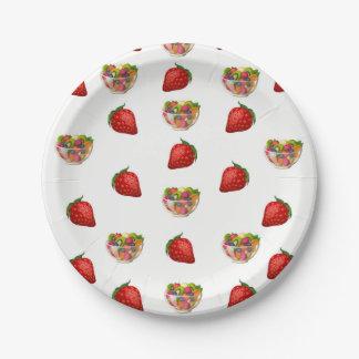 紙皿のフルーツ ペーパープレート