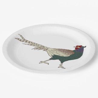 紙皿のヴィンテージのかわいいレトロのキジの鳥 ペーパープレート