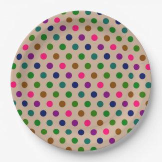 紙皿の水玉模様 ペーパープレート