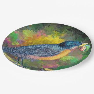 紙皿の鳥のいちごの夏 ペーパープレート
