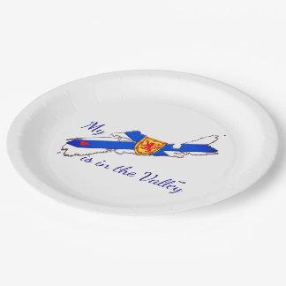 紙皿は谷ノバスコシアに私のハートあります ペーパープレート