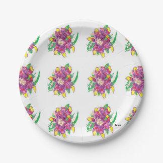 紙皿/アジアユリ ペーパープレート