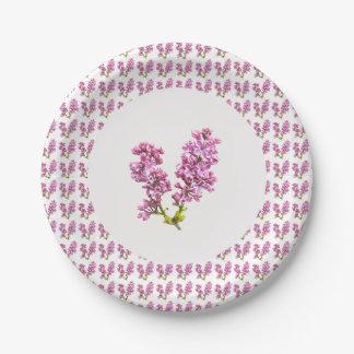 紙皿-多数のライラック(vers。 2) ペーパープレート