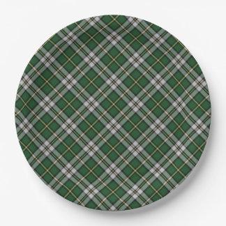 紙皿   岬のブルターニュのタータンチェック格子縞